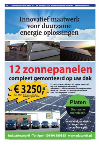 Platen Duurzame Technieken in Regiomagazine juli 2015