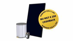 Schaf nu een zonneboiler aan met subsidie en ontvang €250,- cashback!