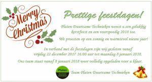 Kerstvakantie aankondiging Platen Duurzame Technieken Ter Apel