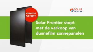 Solar Frontier zonnepanelen stopt met de verkoop in Europa