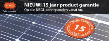 Bisol zonnepanelen, nu 15 jaar garantie!