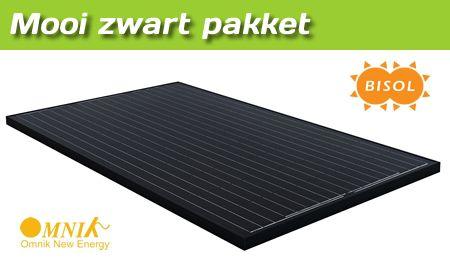 Gemeentecollectief mooi zwart pakket - Bisol 280 WP zwarte zonnepanelen