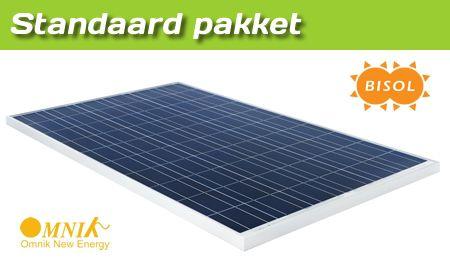 Gemeentecollectief standaard pakket Bisol 270 WP blauwe zonnepanelen - RVS geschroefd montagesysteem -Omnik omvormer