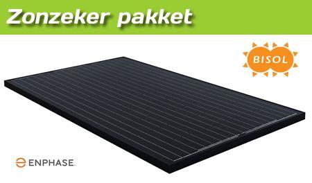 Gemeentecollectief ZonZeker pakket - Bisol 280 WP zwarte zonnepanelen