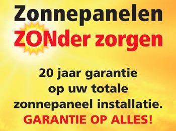 Zonnepanelen zonder zorgen, 20 jaar garantie