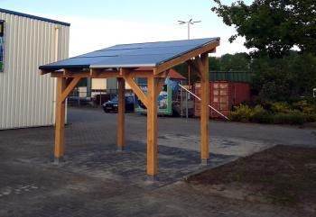 Solarport de duurzame carport met oplaadpunt electrische auto