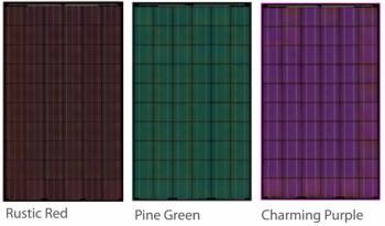 Bisol zonnepanelen rood, groen en paars