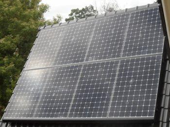 Sunpower zonnepanelen geplaatst op schuin dak te Borger in juni 2013