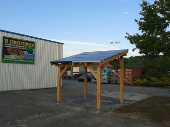 Zonnepanelen geplaatst met veranda te Ter Apel in november 2013