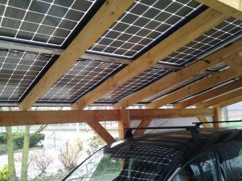 Zonnepanelen geplaatst met veranda te Ter Apel in oktober 2014