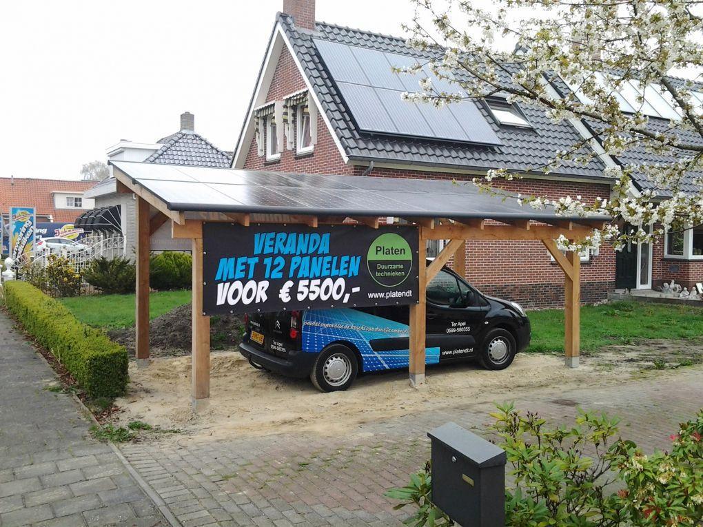 New Zonnepanelen geplaatst met veranda te Ter Apel in oktober 2014 @ZN99