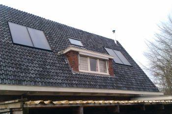 Zonneboiler installatie geplaatst op woning te Engelbert in april 2012