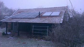 Zonneboiler installatie geplaatst op woning te Bellingwolde in januari 2015